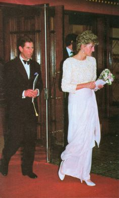 Prince Charles and Princess Diana attends the Royal Variety Performance at the Dominion Theatre on 7th December 1992 which was the last public engagement before the separation.