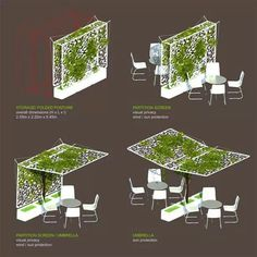 Of green umbrella design and many other neat/unique ideas for balcony meets garden scenes!green umbrella design and many other neat/unique ideas for balcony meets garden scenes! Architecture Durable, Sustainable Architecture, Landscape Architecture, Landscape Design, Garden Design, Architecture Jobs, Landscape Structure, Balcony Design, Design Jardin