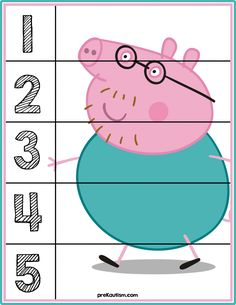 Peppa Pig Number Puzzles - Activities For Toddlers With Autism Number Puzzles, Maths Puzzles, Autism Activities, Infant Activities, Preschool Worksheets, Preschool Activities, Early Learning, Kids Learning, Learning Skills