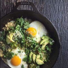 Salsa Verde Quinoa Egg Bake // @thejudylab. Find this recipe and more on our Progresso Instagram Takeover Feed at http://www.thefeedfeed.com/progresso-instagram-takeovers #feedfeed
