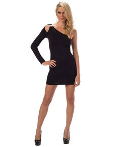 e0b25c386a Jeweled Sleeve Dress Black O s Club Dresses