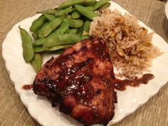 Asian-inspired Grilled Chicken with Thai Lime & Chili Cashew Brown Rice