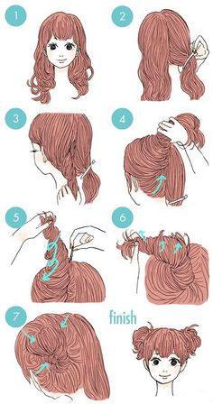 35 peinados para mujeres con pelo largo que cualquier persona puede hacer – 35 hairstyles for women with long hair that anyone can do – Kawaii Hairstyles, Pretty Hairstyles, Cute Hairstyles, Everyday Hairstyles, Two Buns Hairstyle, Romantic Hairstyles, Hair Cute, Hair Dos, Hair Hacks
