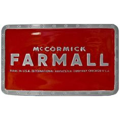 Red IH Farmall Belt Buckle