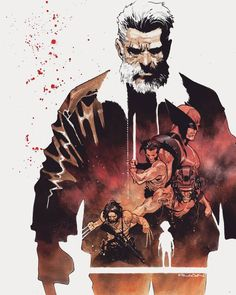 Logan - Wolverine, Weapon X by Dike Ruan * Marvel Comics Art, Marvel Comic Universe, Bd Comics, Marvel Heroes, Thor Marvel, Old Man Logan Comic, Old Logan, Wolverine Art, Logan Wolverine