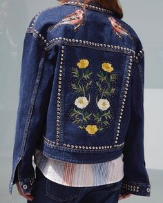Denim heads west for Spring. Find intricate embroidery and stud detailing in the new collection. Shop now at #StellaMcCartney.com