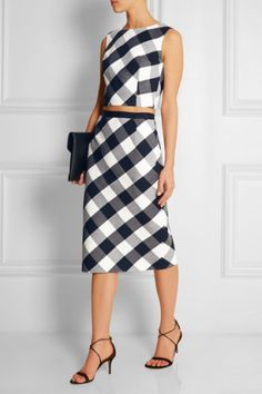 Gingham crop top and
