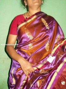 South Indian Aunty Removing her Saree and Showing her Boobs