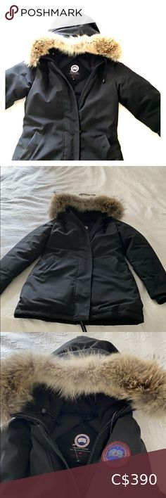 Shop Women's Canada Goose Black size S Puffers at a discounted price at Poshmark. Description: Woman's Canada goose coat 2 seasons old barely worn . Coats For Women, Jackets For Women, Plus Fashion, Fashion Tips, Fashion Trends, Canada Goose Jackets, Winter Jackets, Fur, Seasons