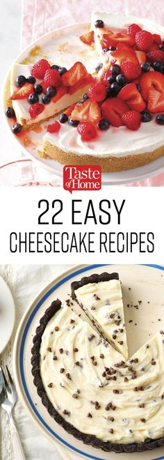 25 Easy Cheesecakes Anyone Can Make - Tartes/Cakes/Kuchen - Cheesecake Recipes Cheesecake Tarts, Easy Cheesecake Recipes, Pumpkin Cheesecake, Pie Dessert, Dessert Recipes, Jello Recipes, Recipies, Just Desserts, Delicious Desserts