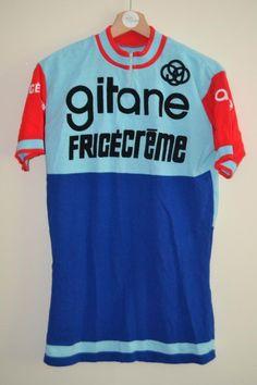 VINTAGE 1973 GITANE FRIGECREME ACRYLIC CYCLING JERSEY MENS | eBay
