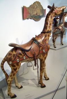 Shelburne Museum Dentzel Dentzel Giraffe  © Jean Bennett