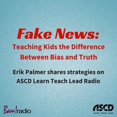 Managing Information: The need to help students do high-quality research begins with teaching students how to distinguish between fake news, bias, truth and credible sources. Listen to this podcast for strategies. Media Literacy, Literacy Activities, Library Lessons, Library Ideas, Writing Topics, Digital Literacy, Teaching Aids, Fake News, Kids Online