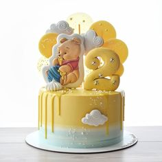 Baby First Birthday Cake, Boy Birthday Parties, Torta Baby Shower, Winnie The Pooh Cake, Girl Birthday Decorations, Beautiful Birthday Cakes, Colorful Cakes, Novelty Cakes, Cakes For Boys