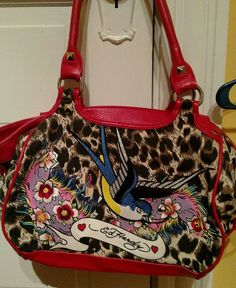 0a1919d23e94 Ed Hardy Authentic Unique Canvas Large Shoulder Bag  EdHardy   MessengerShoulderBag Large Shoulder Bags