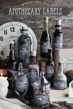 Apothecary Bottle Labels