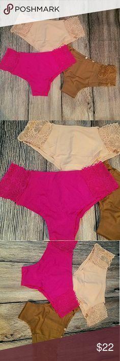 VS PINK LOWRISE CHEEKSTER SZ L LOT 3 NWOT EXTRA CUTE  NWOT EXTRA LOWRISE CHEEKSTER  SZ L LOT OF 3 1 GYPSY ROSE  1 BEIGE PINK  1 HARVEST BROWN ORDERED DIRECTLY FROM VS.COM    SUPER COMFY!  BUNDLE TO SAVE! PINK Victoria's Secret Intimates & Sleepwear Panties
