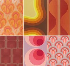 70s wall paper. love it.