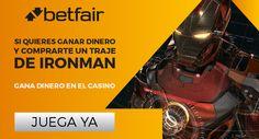 Para comprarte un traje de Ironman usa nuestro casino y hazte rico.