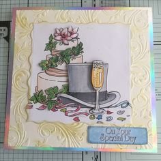 Made using la pashe printed image, tonic nuvo gilding wax and a crafters companion embossing folder.