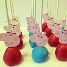 Peppa Pig Car Cake, Cookies and Cake Pops