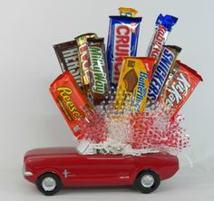 Mustang full of candy! Great for a birthday!