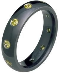 #Jewelry #WeddingBands Excellent Black Titanium Wedding Band for Him and or Her
