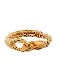 Snake-chain gold-plated bracelet | Diane Von Furstenberg | MATCHESFASHION.COM UK
