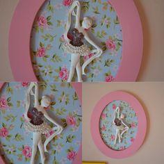 Bailarina para pendurar em resina