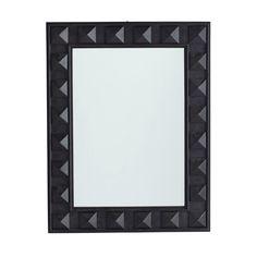 Pyramid Stud Mirror – Black
