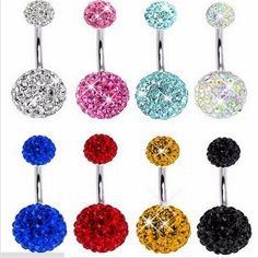 Sexy Crystal  Belly Button Rings