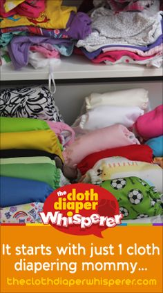 The Cloth Diaper Whisperer: It Starts With Just One Cloth Diapering Mommy