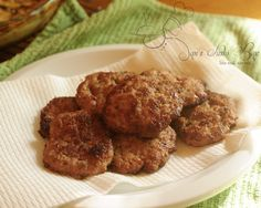 Maple Sausage Patties.  Made these with beef instead of pork & they were great!
