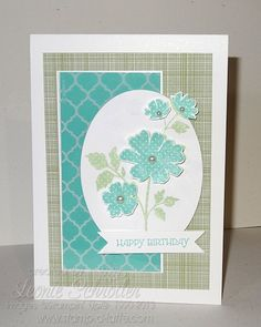 Stampin' Up! Gifts of Kindness Big Shot, Framelits, Flowers, Birthday Quick and Easy card with flowers that pop!