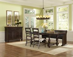 Loren 5 Piece Rectangular Table and Chair Set by Magnussen Home at Hudson's Furniture Casual Dining Rooms, Dining Room Sets, Dining Table Chairs, Dining Room Furniture, Side Chairs, Home Furniture, Outdoor Furniture Sets, Hudson Furniture, Table And Chair Sets