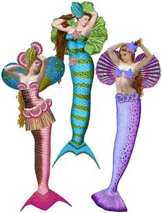 Sirens Mermaids Add-On Parts | Sirens Paper Dolls – Ten Two Studios