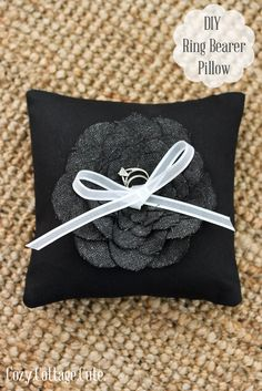 DIY Ring Bearer Pillow.