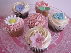 Cupcakes primavera, flores, flowers, buttercream.