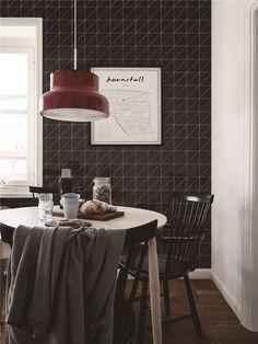 "Modern Kitchen - 4"" linear glossy black triangle tiles wall. #ihavethisthingwithwalls #kitchen #interior #interiordesignideas #interiordecor #DiningRoom #homedecor #homedecorideas #homedesign"