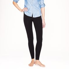 Rank & Style - J.Crew Signature Leggings #rankandstyleRank & Style - Best Black Leggings #rankandstyle The Ten Best Black Leggings BLACK LEGGINGS THAT FIT THE BILL, WHETHER COUCHING IT OR AT COCKTAIL HOUR! http://www.rankandstyle.com/top-10-list/best-black-leggings-2014/