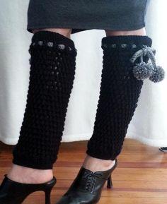 Crochet Legwarmers - black