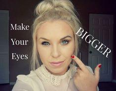 Super Easy Tips to Make Eyes Bigger - Make-up - Makeup Beauty Make-up, Beauty Secrets, Beauty Hacks, Hair Beauty, Beauty Tips, Black Beauty, Make Up Looks, How To Look Pretty, Make Eyes Bigger