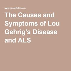 lou gehrig disease essay Amyotrophic lateral sclerosis (als), also known as lou gehrig disease, is a fatal, progressive disease that affects the motor neurons of the body attacking the nerve cells in the brain and spinal cord, als patients lose muscle control and thus becomes paralyzed (als association, n d .