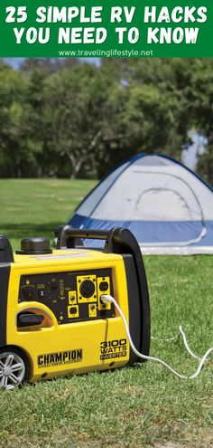 Having a portable generator can be very useful for more techy travelers but also a great addition to your camping gear. It will make you much more flexible with charging and can be also a great backup solution for auto-battery! You will be able to for a remote. #rvhacks #rvcamping #camping #rvtips #tipsforrvcamping Best Travel Gadgets, Old Luggage, Portable Generator, Rv Hacks, Top Travel Destinations, Backpacking Gear, Life Savers, Travel Gifts, Happy Campers
