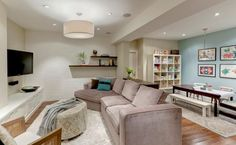 The Best Paint Colours for a Dark Room / Basement - Kylie M Interiors