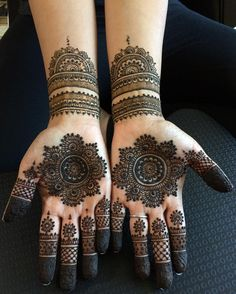 Explore latest Mehndi Designs images in 2019 on Happy Shappy. Mehendi design is also known as the heena design or henna patterns worldwide. We are here with the best mehndi designs images from worldwide. Henna Hand Designs, Dulhan Mehndi Designs, Round Mehndi Design, New Bridal Mehndi Designs, Mehndi Designs Finger, Arabic Henna Designs, Mehndi Designs For Beginners, Mehndi Designs For Fingers, Mehndi Design Pictures