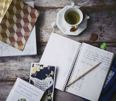 ... a hot beverage, and a notebook or tea journal