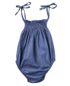 >> Click to Buy << Cute Newborn Baby Girl Sleeveless Denim Romper Backless Belt Jumpsuit Infant Clothes Outfit Sunsuit #Affiliate