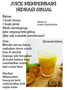 Tips2 sehat Healthy Juice Drinks, Healthy Menu, Healthy Detox, Healthy Juices, Healthy Tips, Herbs For Health, Juicing For Health, Natural Medicine, Herbal Medicine