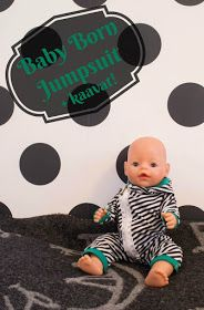 Luomalla: Baby Bornin vinovetskajumpsuit (sisältää kaavat!) Doll Sewing Patterns, Clothing Patterns, Baby Born Clothes, Diy And Crafts, Crafts For Kids, Jumpsuit Pattern, Diy Clothes, Baby Dolls, Free Pattern